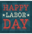 Labor day poster template vector image