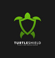 logo turtle shield gradient colorful style vector image