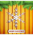 merry christmas light poster vector image vector image
