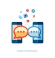 Mobile messaging im and social chat or sms flat vector image vector image