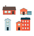 modern buildings icon set private house vector image