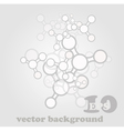 Molecule abstract background vector image vector image