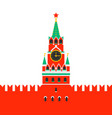 moscow kremlin spasskaya tower of the kremlin on vector image
