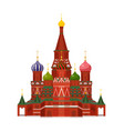 moscow st basil cathedral vector image