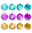 Multicolored Christmas balls Set 4 of 4