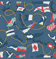 nautical flags and pennants with ropes vector image vector image