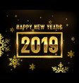 new year 2019 gold background templates vector image