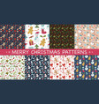 new year and christmas patterns vector image vector image