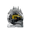 off-road atv buggy logo bush adventute vector image vector image