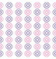 overlaped circle repeating seamless pattern design vector image