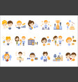 people and their ideas of happiness set vector image vector image