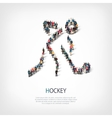 people sports hockey vector image vector image
