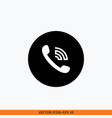 phone call icon round button vector image vector image