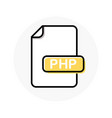 php file format extension color line icon vector image vector image