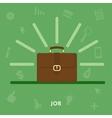 Portfolio businessman concept job vector image vector image