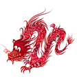 red chinese dragon vector image vector image