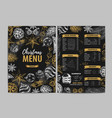restaurant christmas holiday menu design vector image vector image