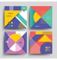 Retro patterns with abstract simple geometric vector image