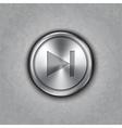 round metal forward rewind button vector image