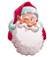 santa claus head winks merry christmas fun vector image