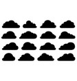 set of different clouds vector image vector image
