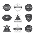 Set of hipster modern labels icons