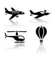 set of transport icons - aircrafts vector image vector image