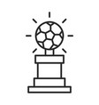 soccer game trophy with ball league recreational vector image vector image