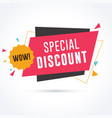 special discount banner vector image vector image