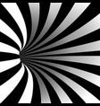spiral vortex optical art vector image vector image