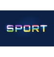 Sport logo text Leader winner football vector image