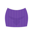 striped short skirt fashion women clothes vector image
