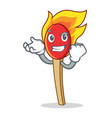 successful match stick character cartoon vector image vector image
