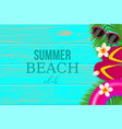 summer tropical beach club background vector image vector image
