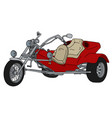 the red heavy motor tricycle vector image vector image