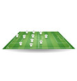 top and side view of football field with team play vector image