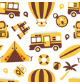 travel symbols seamless pattern summer vacation vector image