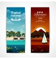Tropical island vertical banners vector image vector image