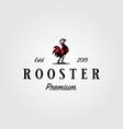 vintage rooster cook farm logo design vector image vector image