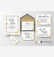 wedding invite invitation thank you rsvp label vector image vector image