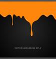 wet orange paint on black background vector image
