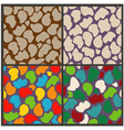 set seamless patterns of abstract stones vector image