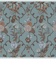 vintage wallpaper background floral seamless vector image