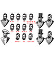 set for man characters speaks animation set of vector image
