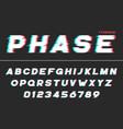 decorative futuristic font design alphabet vector image