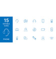 15 phone icons vector image vector image