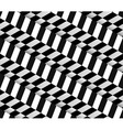 3d Checkered Black White Seamless Pattern vector image vector image