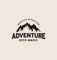 adventure mountain logo template vector image vector image