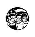 american children different race wearing face vector image vector image