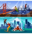 American Cities Compositions Set vector image vector image